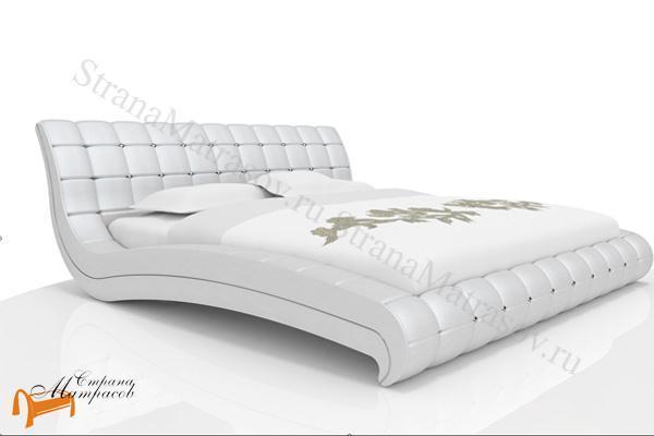Орматек Кровать Vederi из натуральной кожи , натуральная кожа, белая