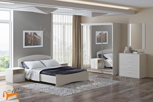 Орматек Детская кровать (подростковая) Этюд  с основанием , лдсп, белый, белая