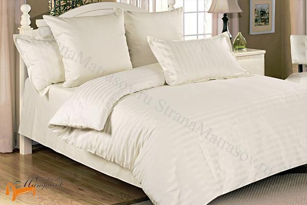 Орматек  Комплект постельного белья Страйп - сатин Pearl , 100% хлопок, страйп-сатин, коричневое , однотонное, белье орматек, гладкое, все размеры