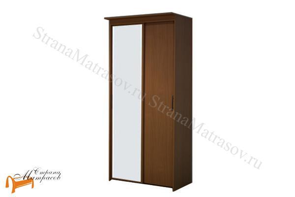 Орматек Шкаф 2-х дверный - купе Эконом (глубина 600мм) с 1 зеркалом , шкаф 902 мм, лдсп, бавари, ноче гварнери, ноче мария луиза, венги, французский орех, итальянский орех, шамони, белый