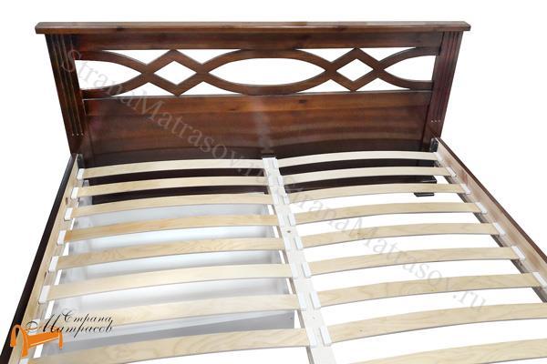 Райтон Кровать Nika М - тахта с основанием , натуральное дерево, классика, сосна, Орех, венге, красно-коричневый, слоновая кость, белая эмаль