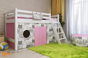 Райтон - Кровать низкая Отто 12 с наклонной лестницей и основанием