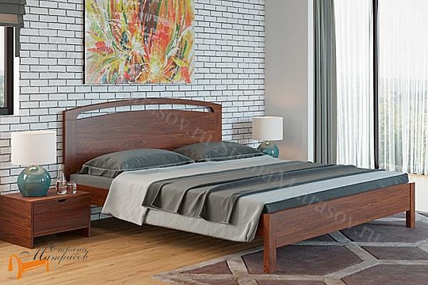 Райтон Кровать Веста 1М - R - тахта с основанием , натуральное дерево, классика, сосна, слоновая кость, орех, коричневый, венге, белый