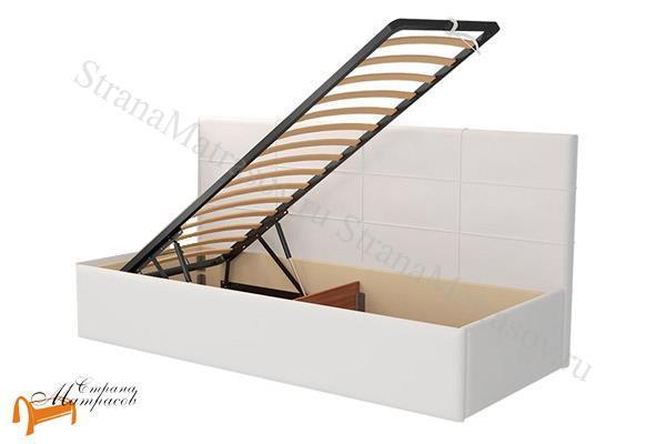 Райтон Кровать Life 1 софа с подъемным механизмом , экокожа, ткань, коричневый, белый, бежевый, черный, лайф, серый, зеленый, спинка, ящик