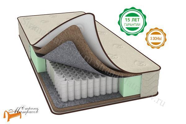 Райтон Матрас Bio F (Firm) EVS 500 3-zone , кокос, трехзональный, независимый пружинный блок