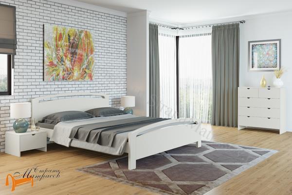 Райтон Кровать Веста 1- R с подъемным механизмом , натуральное дерево, классика, сосна, слоновая кость, орех, коричневый, венге, белый
