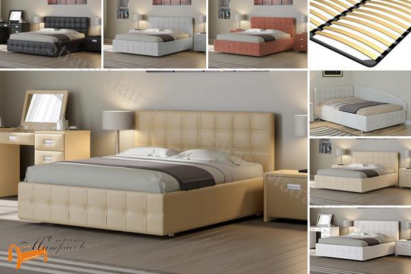 Райтон Детская кровать (подростковая) Life 3 с основанием , экокожа, кровать лайф бокс, черный,    бежевый,  коричневый, белый, Caiman Croco, Sprinter Pearl, Sprinter Gold, золотой, жемчуг, серый,