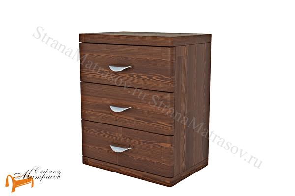 Райтон Тумба Dakota (3 ящика) , натуральное дерево, классика, сосна, Орех, венге, красно-коричневый, слоновая кость, белая эмаль, ящик