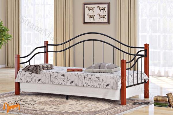 Райтон Детская кровать (подростковая) Garda 8R - софа с основанием , металл, гарда, дерево гевеи, орех, красный, белый, венги, коричневый