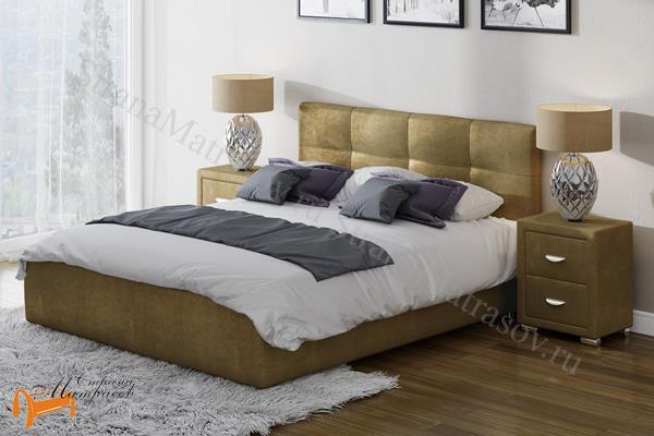 Райтон Кровать Life Box 1 с подъемным механизмом , выполненная из натуральной экокожи класса люкс, золотая, крокодиловая текстура