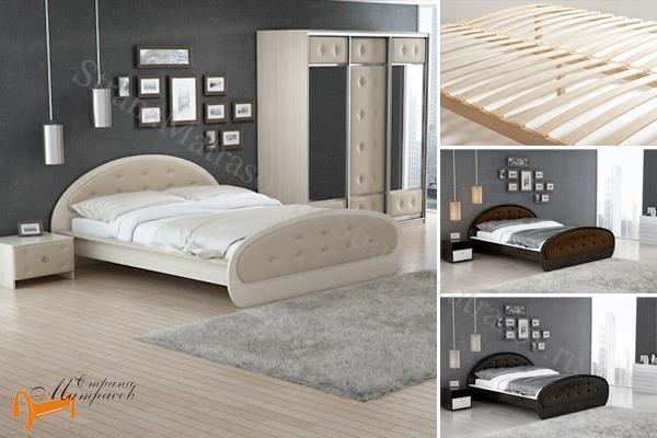 Райтон Детская кровать (подростковая) Сезия , состав экокожа, лдсп, кровать орматек, черная, коричневая, шамони, белая, венги, кровать райтон