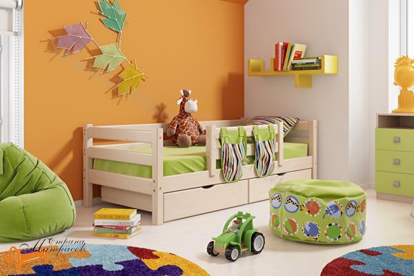 Райтон - детская кровать Райтон Отто 4 с центральным бортиком и основанием