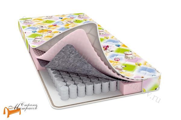 Райтон Детский ортопедический матрас Baby Care (чехол Print) , ортопедическая пена Raitex (Райтекс), войлок, независимый пружинный блок
