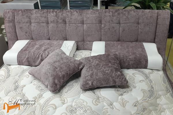 Райтон Кровать Nuvola-1 , экокожа, белый, чёрный, кремовый, бежевый, коричневый, серый, молочный,