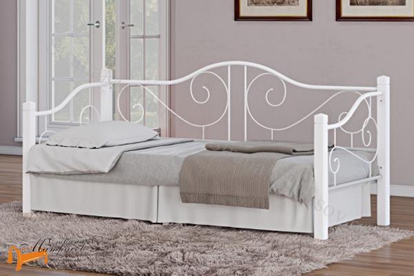 Орматек Кровать Garda 7R - софа с основанием , дерево гевеи, металл, гарда, венги, белая, коричневая, красная