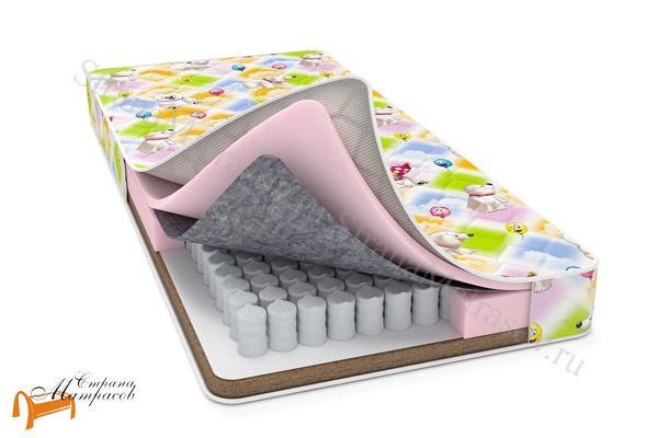 Райтон Детский ортопедический матрас Baby Comfort (чехол Print) , ортопедическая пена, войлок, термовойлок, Raitex (Райтекс), кокос
