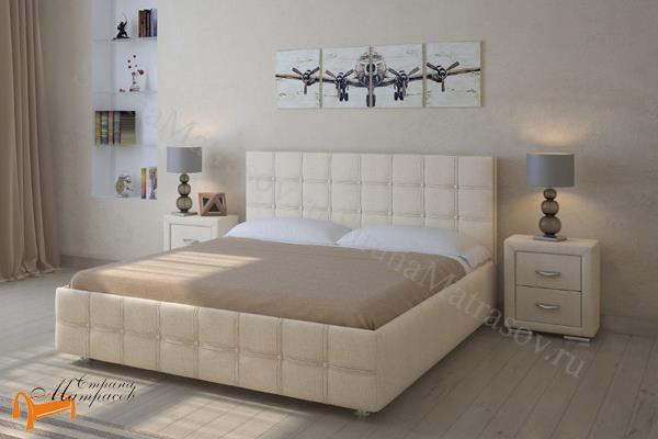 Райтон Детская кровать (подростковая) Life 3 с основанием , экокожа, кровать лайф, черный,    бежевый,  коричневый, белый, Caiman Croco, Sprinter Pearl, Sprinter Gold, золотой, жемчуг, серый, кремовый,ткань, рогожка