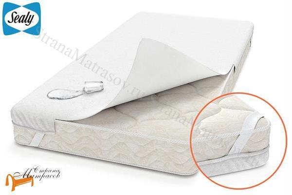 Sealy (США) Наматрасник Capsule Elastic - чехол (для матраса до 30см) , влагостойкий, влагонепроницаемый, крепление к матрасу при помощи резинок по углам, махровая ткань