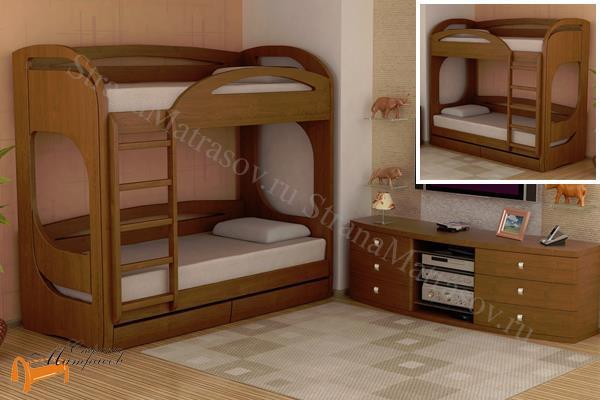 Торис - детская кровать Торис двухъярусная Миа 5 и Миа 6 (2 ящика)