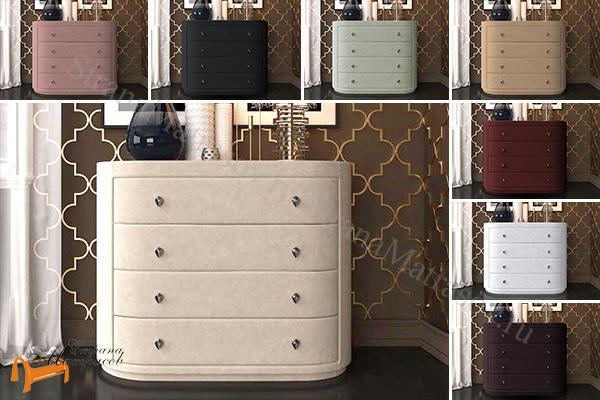 Verda Комод Classic (4 ящика)  , спальная система Верда, серый, белый, графит, черный, снежно - белый