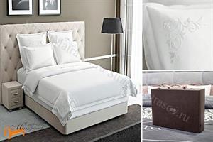 Verda -  Комплект постельного белья Verda белый сатин (простынь на резинке на высоту матраса до 47см)