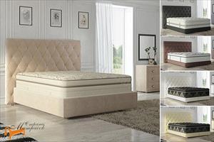 Verda - Кровать Luxe с основанием Basement, уменьшенное изголовье