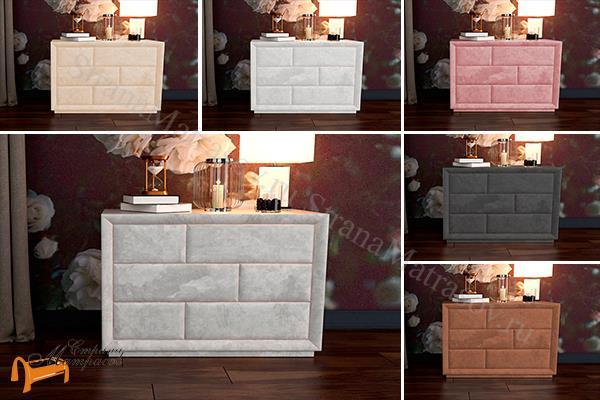 Verda Комод Modern (6 ящиков) , спальная система Верда, серый, белый, графит, черный, снежно - белый