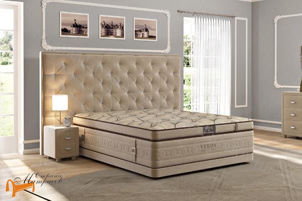 Verda Кровать Classic с основанием Basement  , спальная система Верда, люкс, серый, белый, графит, черный, снежно - белый