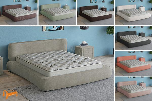 Verda Кровать Zephyr c основанием мультиламель , зефир , шоколад, серый, белый, графит, марсала, бежевый, велсофт , софт