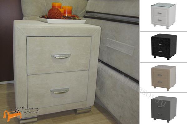 Verda  прикроватная Verda , спальная система Верда, тумбочка, серый, белый, графит, черный, снежно - белый