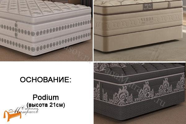 Verda Основание для кровати Podium M , сплошное, подиум, для спальной системы верда, экокожа, ткань велсофт
