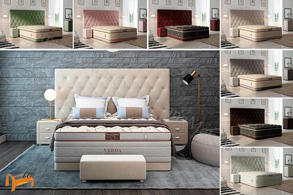 Verda Кровать Luxe с основанием Basement , спальная система luxe, verda, шоколад, серый, белый, графит, черный, красный, зеленый
