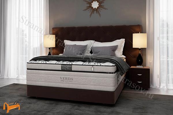 Verda Кровать Style с основанием Podium M , спальная система, шоколад, серый, белый, графит, черный, красный,