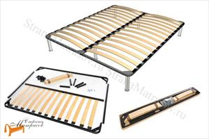 DreamLine - Основание для кровати Dream разборное металлическое с березовыми ламелями с ножками