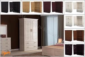 DreamLine - Шкаф 2-х дверный Эдем (дерево) (глубина 560мм) с зеркалами