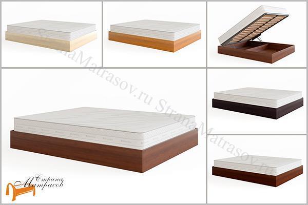 DreamLine Кровать Куб с подъемным механизмом , без изголовья, млпд, бук, ясень, каштан, белый, серый, слоновая кость, олива