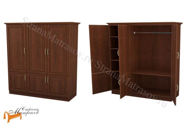 DreamLine Шкаф 3-х дверный Эдем (3 створки) , дерево, белый, бежевый, коричневый, темно-коричневый, черный
