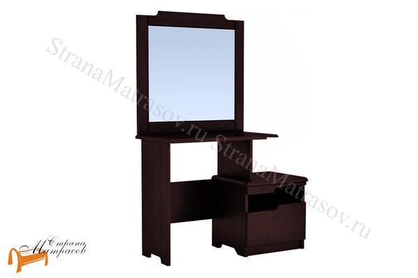 DreamLine  Туалетный стол Бельфор с зеркалом , деревянный, белый, коричневый, золотая патина, оранжевый