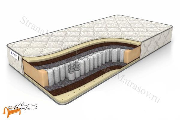 DreamLine Ортопедический матрас SleepDream Medium TFK 550 , независимый пружинный блок, усиление по периметру, латекс, кокос