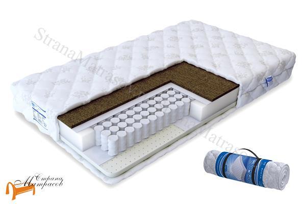 Промтекс-Ориент Ортопедический матрас Soft Комби 2 TFK 550 , натуральный латекс, TFK, независимые пружины, кокосовая койра, спанбонд