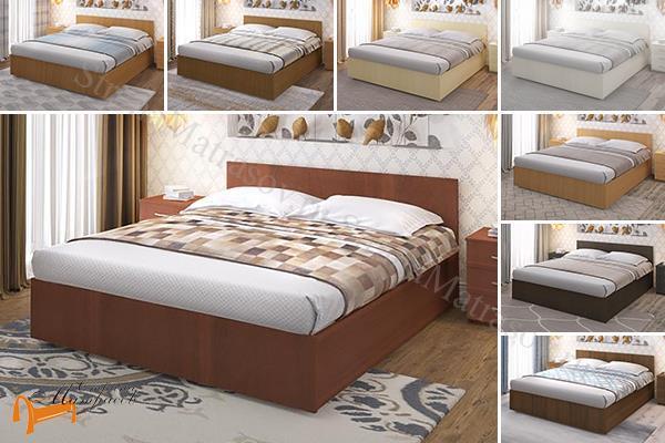 Промтекс-Ориент Кровать Рено 2  , ЛДСП, основание, черный, красный, оранжевый, желтый, шамони, верги, белый, коричневый, серый