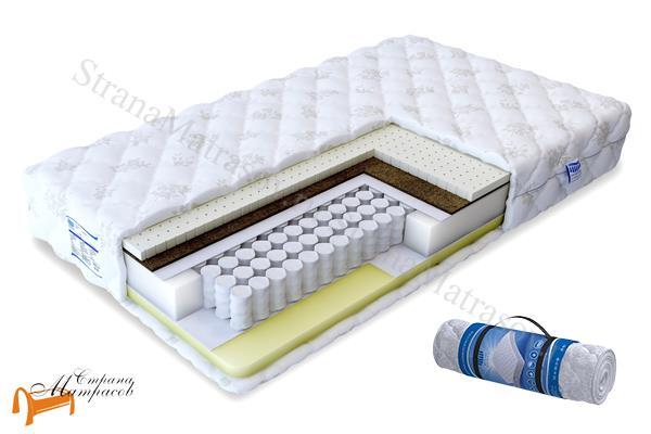 Промтекс-Ориент Ортопедический матрас Soft Мидл Мемори TFK 550 , натуральный латекс, кокосовая койра, мемори фоам, независимый пружинный блок