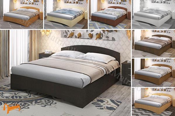 Промтекс-Ориент Кровать Рено 1 , ЛДСП, основание, черный, красный, оранжевый, желтый, шамони, верги, белый