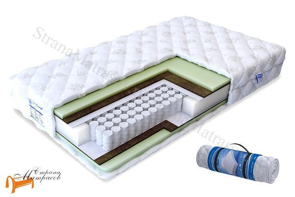 Промтекс-Ориент Ортопедический матрас Soft Оптима Эконом TFK 550 , искусственный латекс, кокосовая койра, независимый пружинный блок