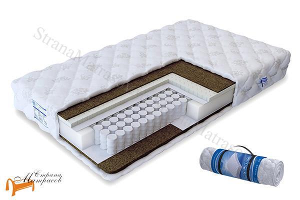 Промтекс-Ориент Ортопедический матрас Soft Акцент TFK 550 , независимые пружины, кокос, латекс, две разные стороны, койра, трикотаж с молнией