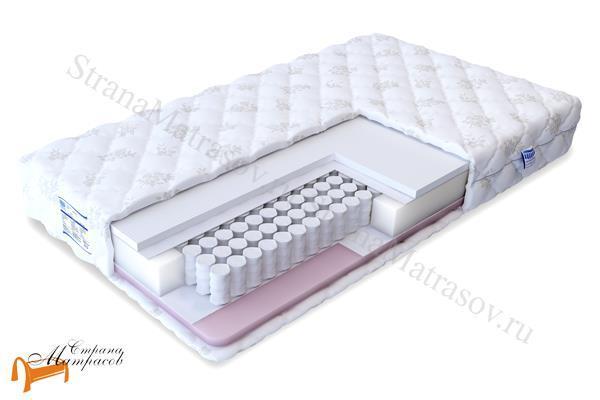 Промтекс-Ориент Матрас Soft Комби Эконом TFK 550 , искусственный латекс, TFK, независимые пружины, струтто, спанбонд
