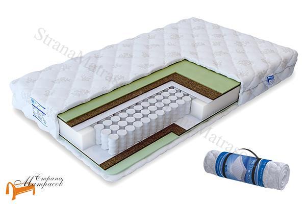 Промтекс-Ориент Ортопедический матрас Soft Римус TFK 550 , независимые пружины, искусственный латекс, кокос, чехол на молнии