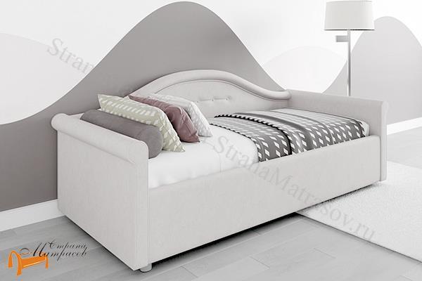 Сонум Кровать Maria с основанием , экокожа, ткань, мария, ортопедическое основание, экокожа, велюр, коричневый, бежевый, белый, черный, сиреневый, серый