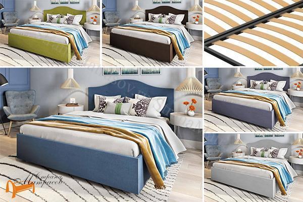 Сонум Кровать Mira с основанием , экокожа, мира, с основанием, ортопедическое основание, экокожа, велюр, коричневый, бежевый, белый