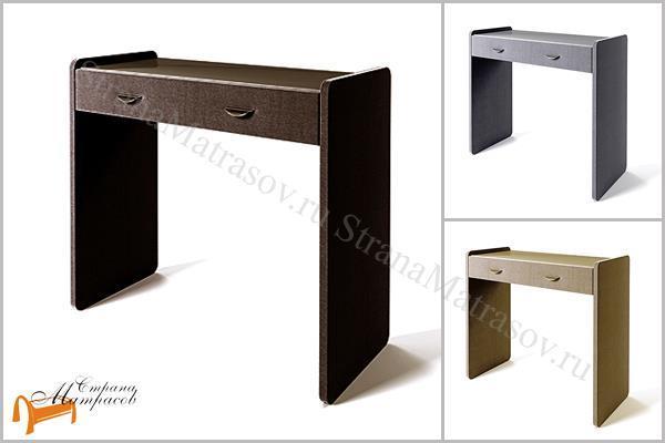 Сонум  Туалетный стол Люкс , экокожа, ящик, ткань, рогожка, велюр, белый, черный, кремовый, бежевый, коричневый,